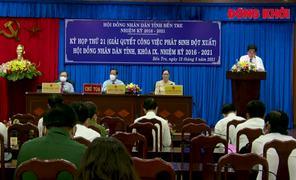 HĐND tỉnh tổ chức kỳ họp giải quyết công việc phát sinh đột xuất