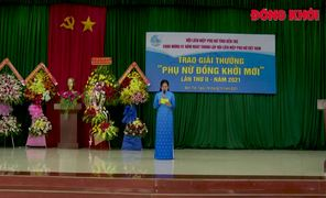 """Hội Liên hiệp phụ nữ tỉnh trao giải thưởng """"Phụ nữ Đồng khởi mới"""" lần thứ 2-2021"""