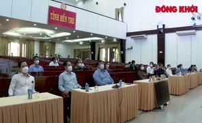 Đoàn công tác của Ban Dân vận Trung ương và các cơ quan y tế TP. Hồ Chí Minh làm việc tại tỉnh Bến Tre