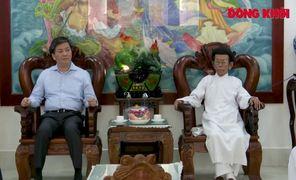 Bí thư Tỉnh ủy Lê Đức Thọ thăm các tổ chức tôn giáo trên địa bàn tỉnh