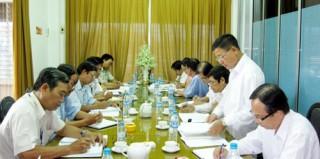 Ban Chỉ đạo phòng, chống tham nhũng tỉnh làm việc với Sở Xây dựng