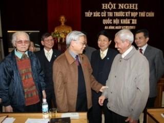 Cử tri nơi cư trú nhất trí giới thiệu đồng chí Nguyễn Phú Trọng ứng cử ĐBQH khóa XIII