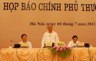 Họp báo Chính phủ thường kỳ tháng 6/2011