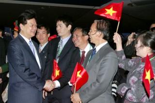 Thủ tướng Nguyễn Tấn Dũng tới Tokyo tham dự Hội nghị Mekong – Nhật Bản