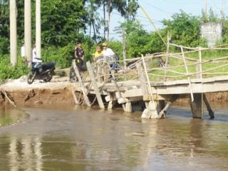 Cầu Yên Hào có nguy cơ bị sụp móng