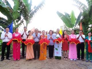 Xã Châu Bình khánh thành cầu vào nghĩa trang