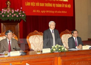 Tổng Bí thư: Đảng bộ Hà Nội cần đi đầu, làm gương cho cả nước