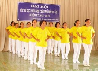 Tập hợp các nhóm, câu lạc bộ thể dục dưỡng sinh vào Hội