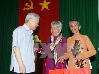 Tổng Bí thư Nguyễn Phú Trọng thăm, làm việc tại tỉnh Sóc Trăng