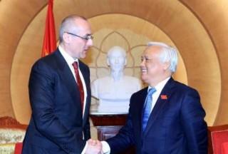 Phó Chủ tịch Quốc hội Uông Chu Lưu tiếp Bộ trưởng Tư pháp Slovakia