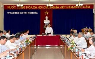 Thủ tướng Nguyễn Tấn Dũng làm việc với lãnh đạo tỉnh Khánh Hòa