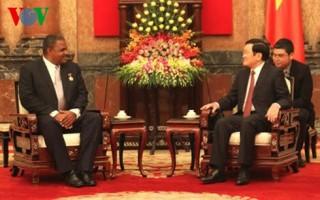 Chủ tịch nước Trương Tấn Sang tiếp Chánh án Tòa án Nhân dân Tối cao Cuba