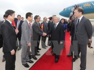 Tổng Bí thư Nguyễn Phú Trọng đã đến Hoa Kỳ, bắt đầu chuyến thăm chính thức