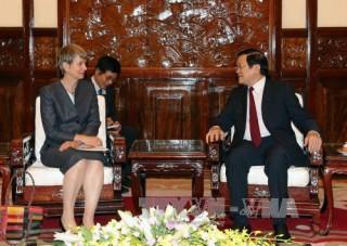 Chủ tịch nước Trương Tấn Sang tiếp các đại sứ chào từ biệt