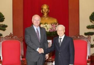 Tổng Bí thư Nguyễn Phú Trọng tiếp Đại sứ, Trưởng Phái đoàn EU tại Việt Nam đến chào từ biệt