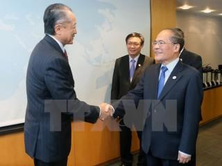 Chủ tịch Quốc hội gặp Chủ tịch Ngân hàng thế giới tại Hoa Kỳ