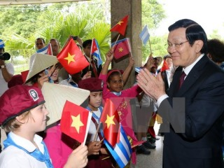 Chủ tịch nước Trương Tấn Sang dự diễn đàn doanh nghiệp Việt Nam-Cuba
