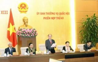 Ủy ban Thường vụ Quốc hội thảo luận về Luật Tổ chức Quốc hội