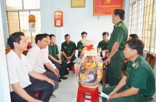 Lãnh đạo Bộ đội Biên phòng tỉnh thăm, chúc Tết ở 3 huyện ven biển
