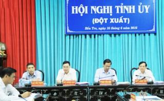 Hội nghị đột xuất ban chấp hành đảng bộ tỉnh khóa X