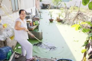 """Nước thải tù đọng, khu vực chợ Phú Nhuận """"nặng mùi"""""""