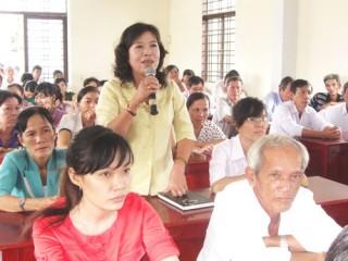 Đại biểu HĐND tỉnh tiếp xúc cử tri TP. Bến Tre và Ba Tri