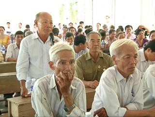 Tiếp xúc cử tri các huyện cù lao Minh