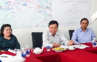 Bí thư Tỉnh ủy Võ Thành Hạo kiểm tra tiến độ dự án nâng cấp, mở rộng Quốc lộ 60