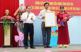 Trung tâm xã Lộc Thuận đạt chuẩn đô thị loại V
