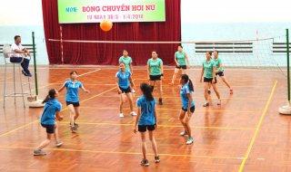 Bóng chuyền hơi nữ  - môn thứ 5 của Đại hội Thể dục thể thao tỉnh khai mạc
