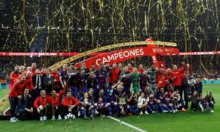 Hủy diệt Sevilla, Barca đăng quang Cúp nhà vua