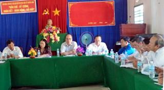 Huyện ủy Ba Tri làm việc với Đảng ủy xã An Hiệp về thực hiện Nghị quyết từ đầu năm 2018 đến nay