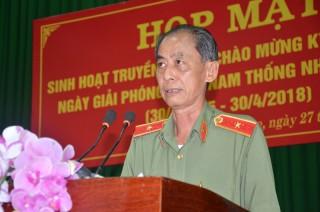 Công an tỉnh sinh hoạt truyền thống Kỷ niệm 43 năm Ngày giải phóng Miền Nam