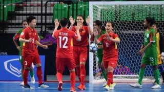 Tuyển futsal nữ Việt Nam thắng Bangladesh 7-0