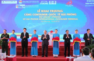 Thủ tướng dự khai trương Cảng container quốc tế Hải Phòng