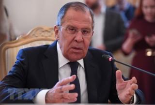 Ngoại trưởng Nga Sergey Lavrov đã tới Bình Nhưỡng bằng máy bay