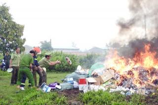 Tiêu hủy tang vật, hàng hóa, phương tiện vi phạm hành chính