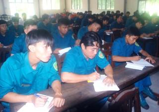 Khai giảng lớp tập huấn cán bộ dân quân tự vệ binh chủng năm 2018