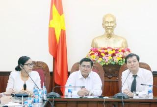 Lãnh đạo tỉnh làm việc với Quỹ Khởi nghiệp doanh nghiệp khoa học và công nghệ Việt Nam