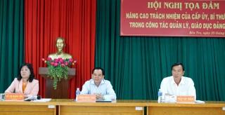 Nâng cao trách nhiệm của cấp ủy, bí thư chi bộ trong công tác quản lý, giáo dục đảng viên