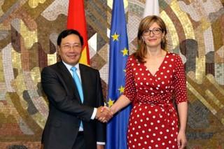 Phó thủ tướng Phạm Bình Minh hội đàm, hội kiến với lãnh đạo Bulgaria