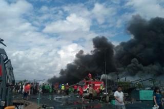 Indonesia: Cháy lớn ở bến cảng Bali, 40 tàu thuyền bị thiêu rụi