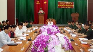 Hội nghị Đảng ủy Quân sự tỉnh 6 tháng đầu năm 2018
