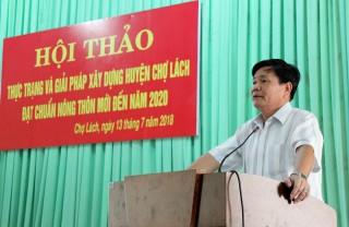 Chợ Lách phấn đấu đạt chuẩn huyện nông thôn mới trước quí II-2020