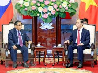 Chủ tịch nước tiếp Phó Chủ tịch Quốc hội Lào Sengnouane Sayalat