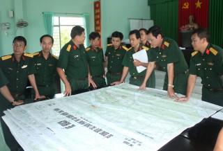 Kiểm tra văn kiện diễn tập khu vực phòng thủ huyện Châu Thành
