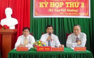 HĐND huyện Giồng Trôm họp bất thường thông qua 3 nghị quyết
