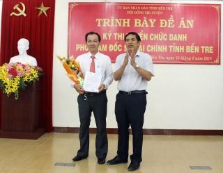 Ông Trần Thanh Tuấn trúng tuyển và đươc bổ nhiệm Phó giám đốc Sở Tài chính