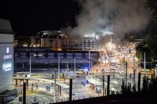 Cháy và nổ lớn tại nhà ga trung tâm Zurich (Thụy Sĩ)