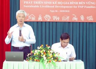 Hội thảo phát triển sinh kế hộ gia đình bền vững tại tỉnh